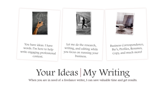 Your Ideas My Writing